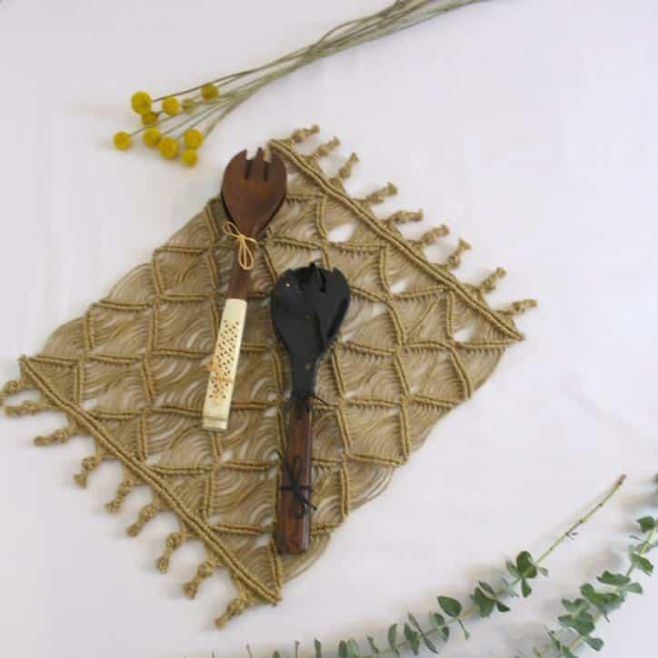 Set de table boho en jute - HEMOON - Maison & Décoration