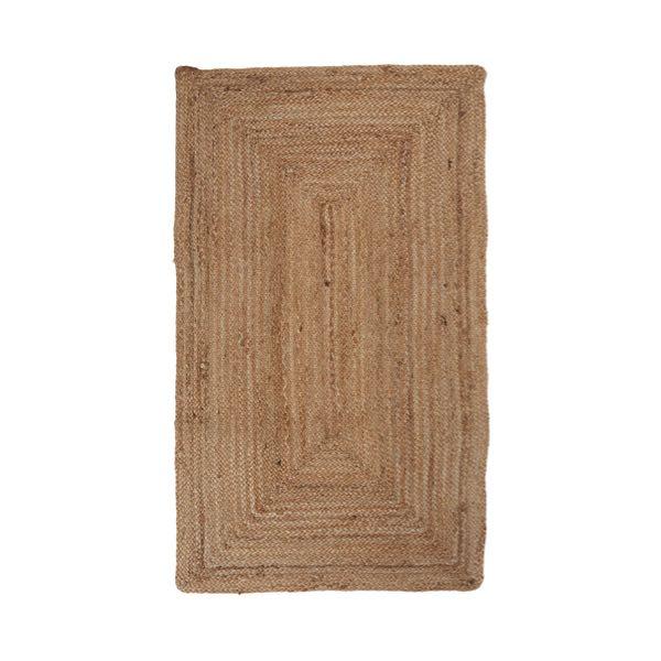 tapis rectangulaire en jute 70x120cm - Tapis En Jute
