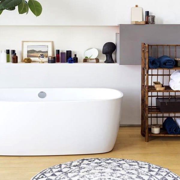 tapis de bain rond ethnique 120 cm hkliving hemoon maison d coration. Black Bedroom Furniture Sets. Home Design Ideas