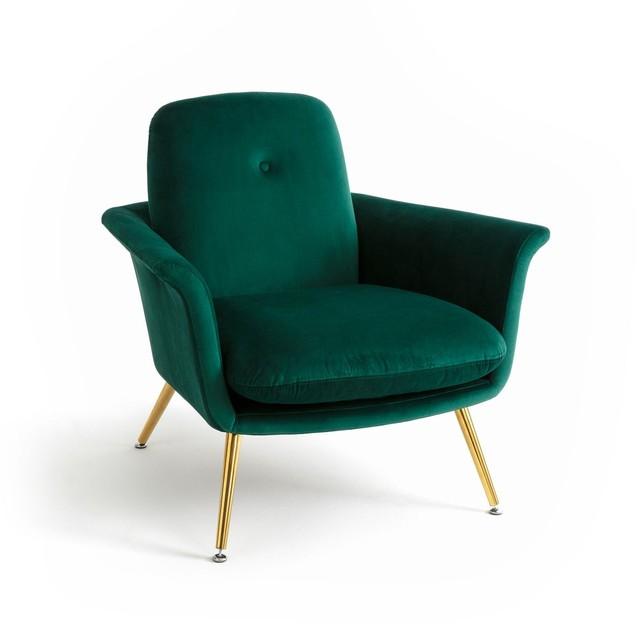 Fauteuil velours vintage Soldes décoration et meubles