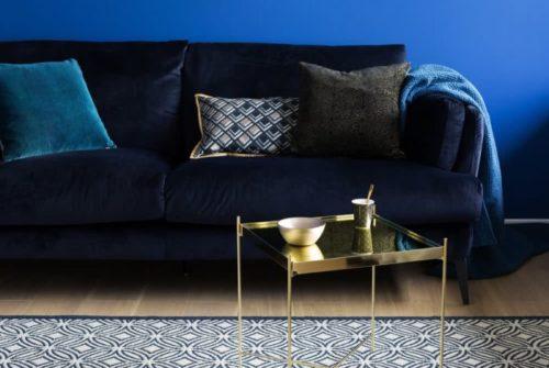 Canapé tendance 2019 - Canapé CARDINAL Bleu nuit chez Delamaison