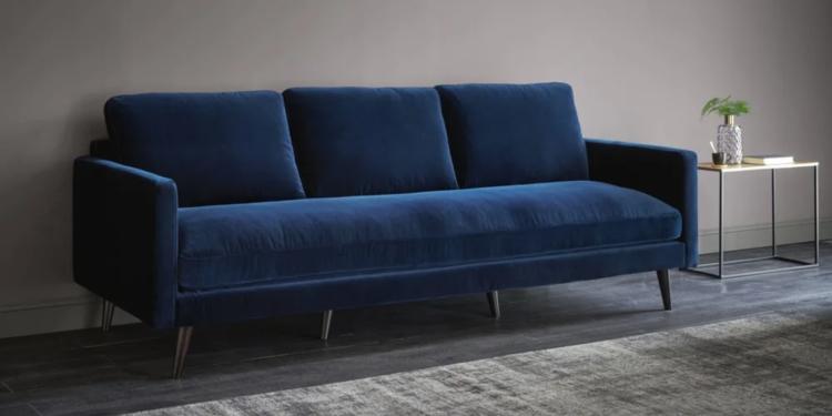 Canapé KANT Velours Bleu nuit - Maisons du monde