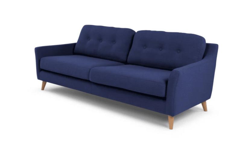 Canapé en tissus bleu - Rufus Made.com