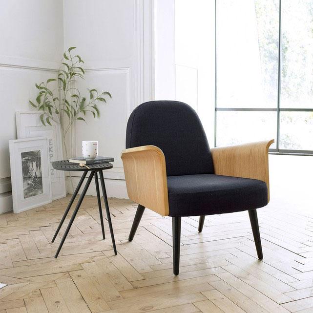Fauteuil bois vintage biface - Soldes décoration et meubles