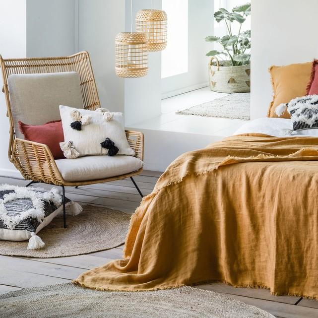 Fauteuil rotin design KUBU - Soldes décoration et meubles
