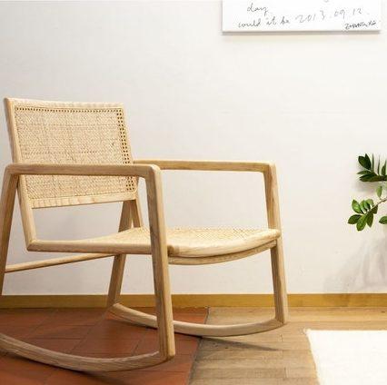 Rocking chair cannage PIB - Soldes décoration et meubles