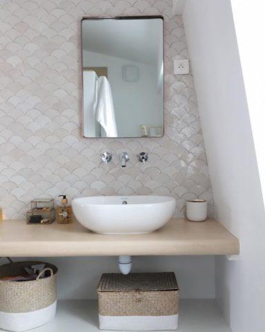 Zellige Marocain ecaille en faïence salle de bain