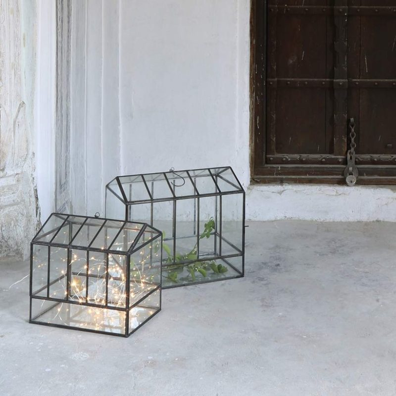 Terrarium en verre soldé chez Decoclico - Aménager sa terrasse