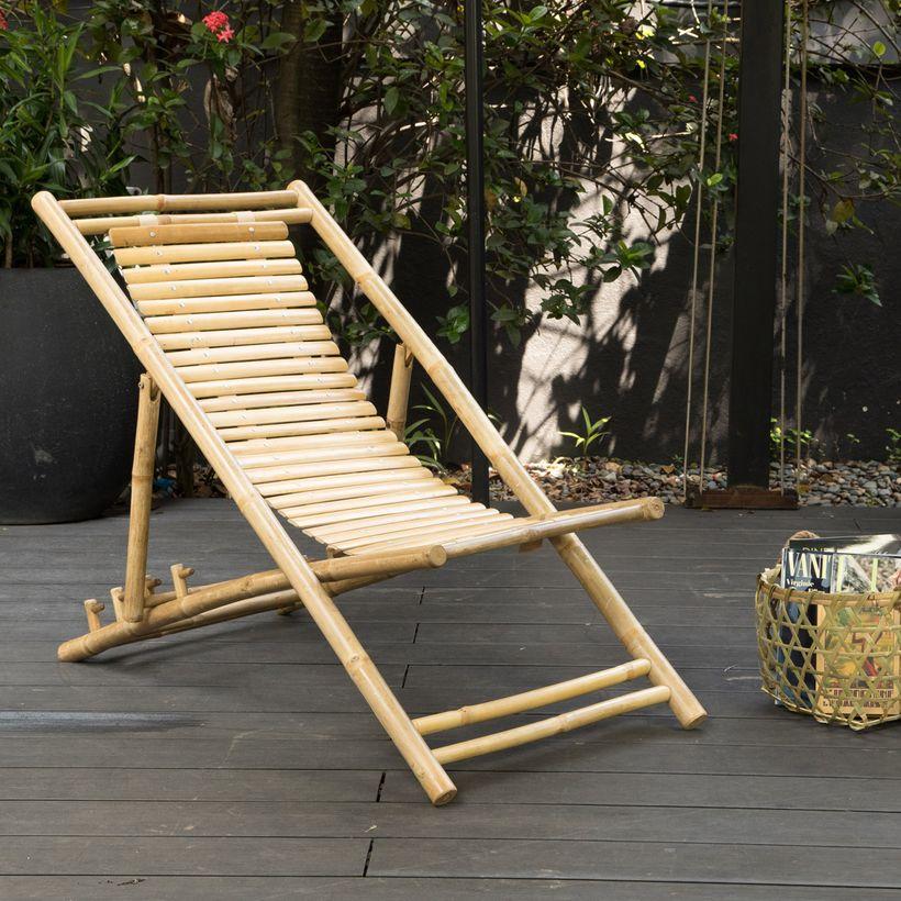 Transat en bambou soldes decoclico