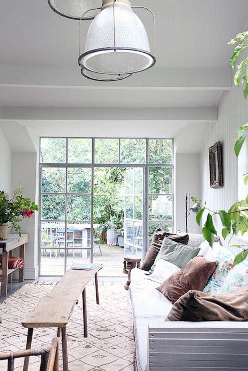 Une baie vitrée style orangerie