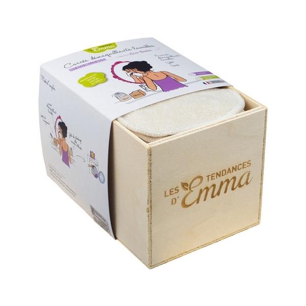 Kit lingettes lavables et boite de rangement en bois Les tendances d'Emma