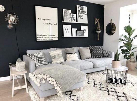 Mur noir chic pour créer une ambiance conviviale dans son intérieur
