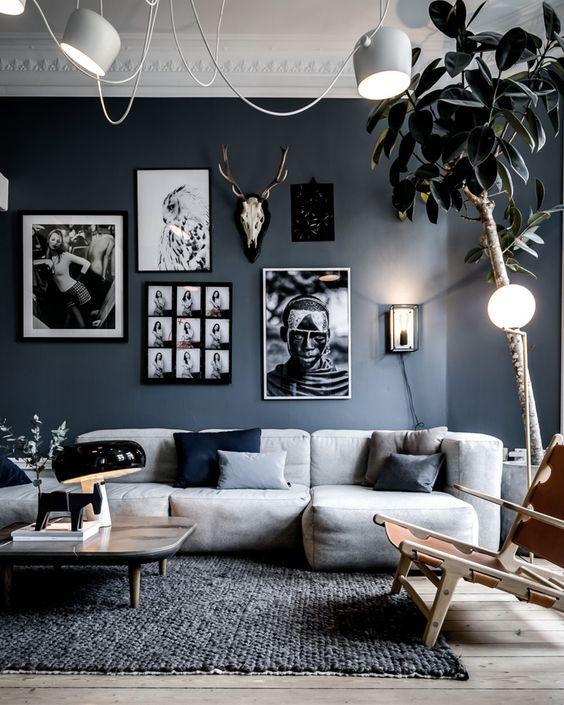 Créer un salon cocooning et cosy en composant entre gris anthracite et blanc
