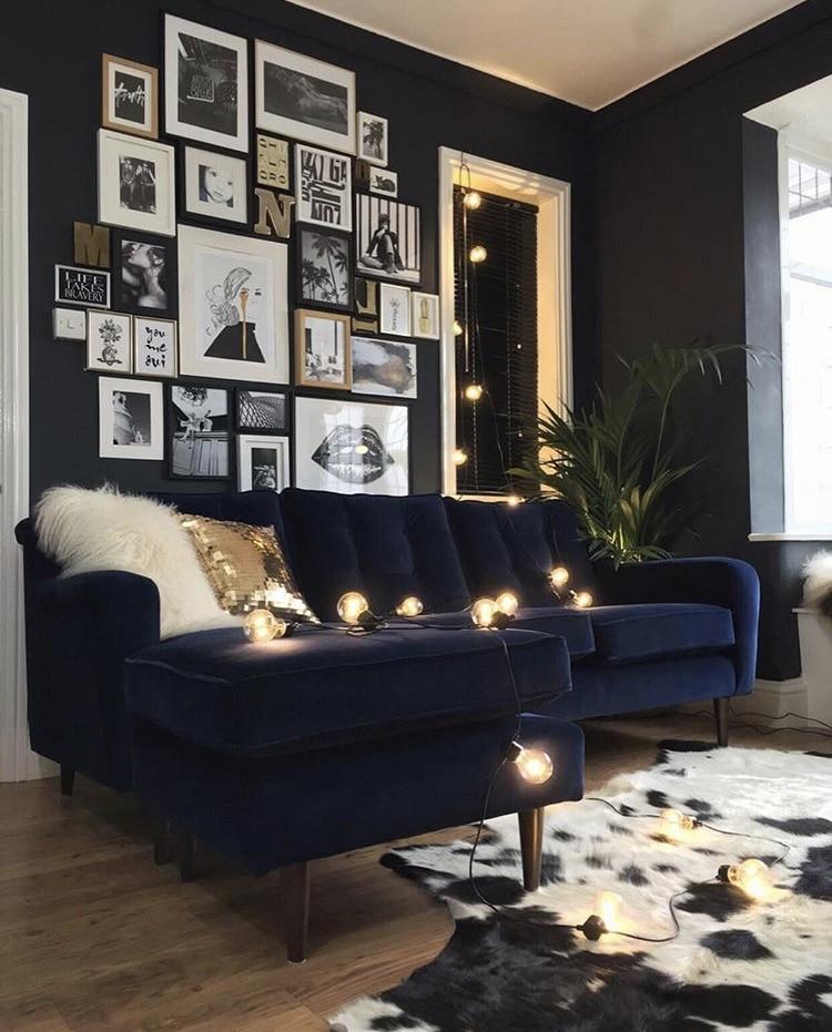 La combinaison tendance en décoration : le noir et le velours