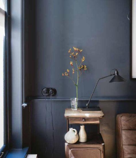 Les couleurs sombres sur les murs