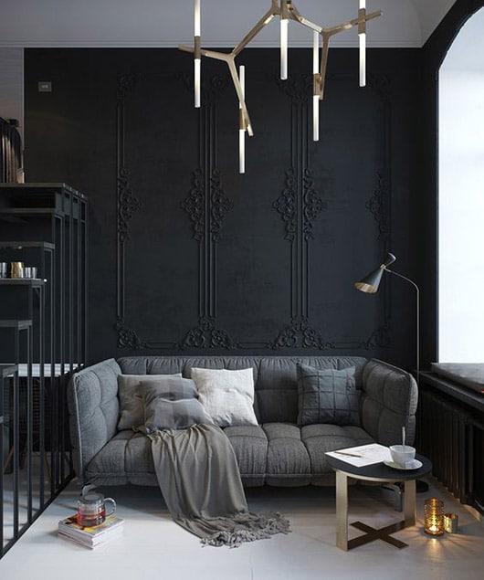 La couleur noire tendance dans la décoration intérieure