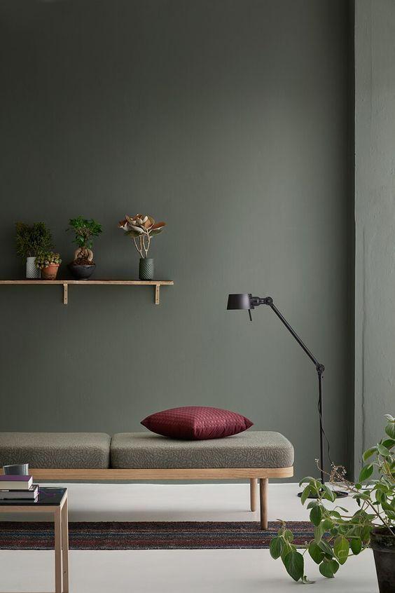 La couleur kaki on ose sur les murs