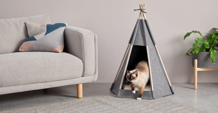 Tipi pour chat en feutrine, accessoire décoratif chez Made.com