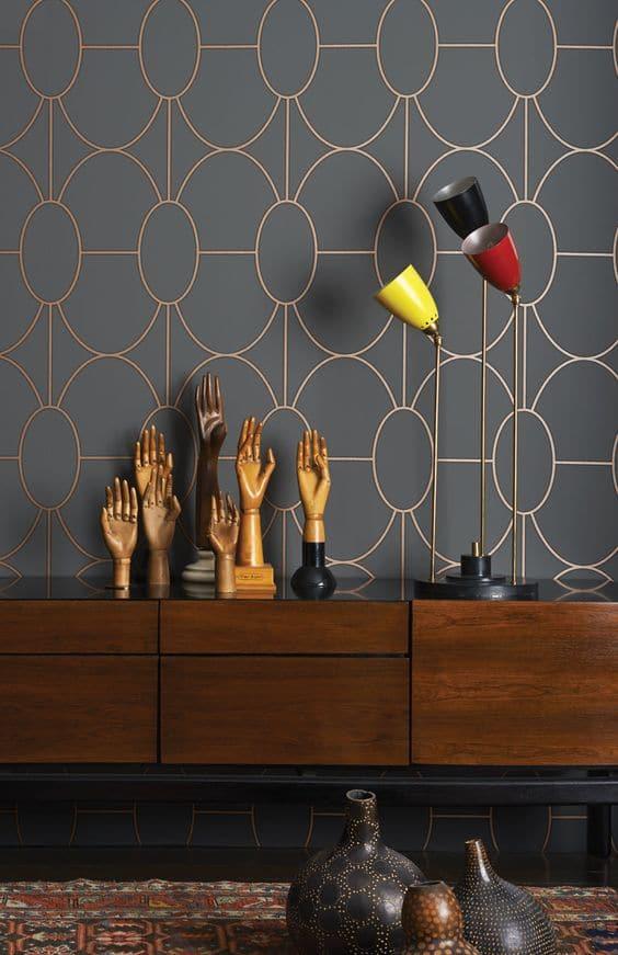Le style art déco dans nos intérieurs : choisir un papier peint géométrique et graphique
