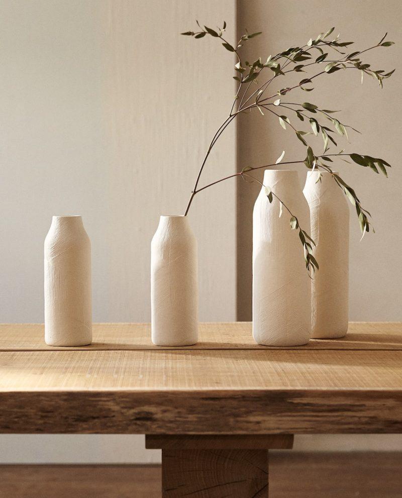 Vase texture style californien maison californienne chez Zara Home