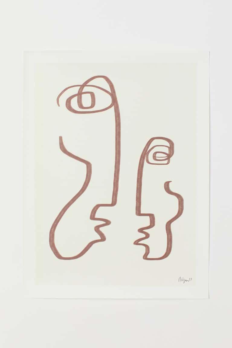 Affiche minimaliste Robin Ahlgren pour H&M Home collaboration avec Paper Collective