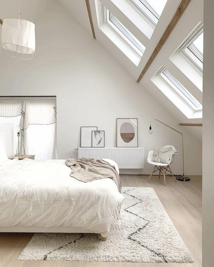 Chambre style californien chez Noemie Meijer décoratrice intérieure installée en Belgique