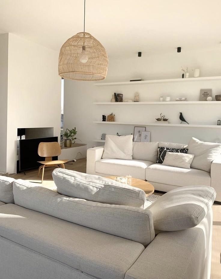 Salon maison californienne, un aménagement lumineux, minimaliste et chaleureux