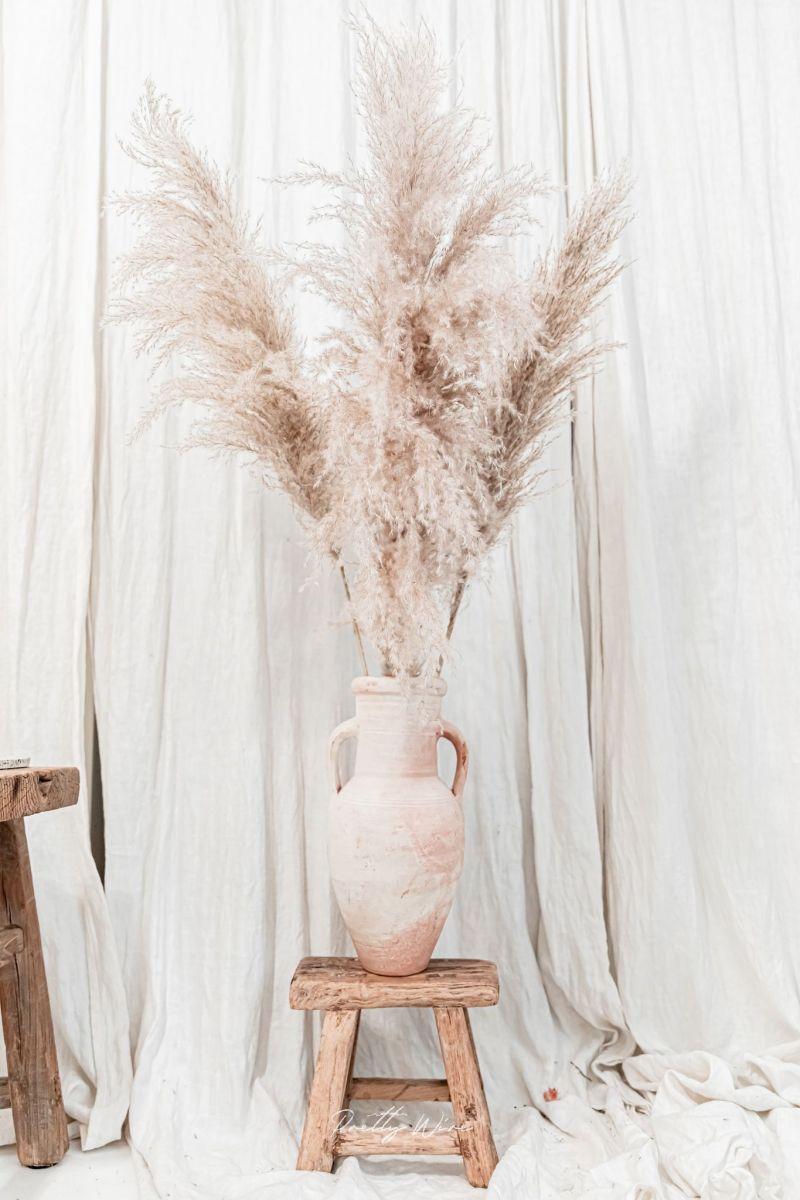 Bouquet de fleurs de la pampa pour composer un style californien dans son home sweet home
