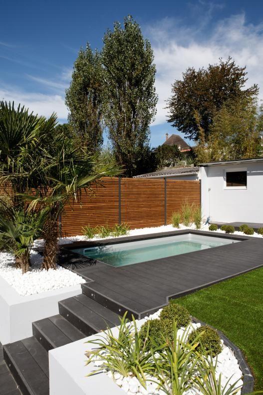 Inspirations de piscine hors-sol et piscine semi-enterrée 2021