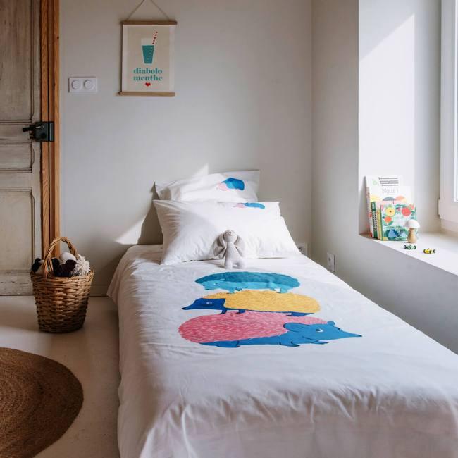 Parure de lit de qualité pour les enfants, différents motifs d'animaux disponibles