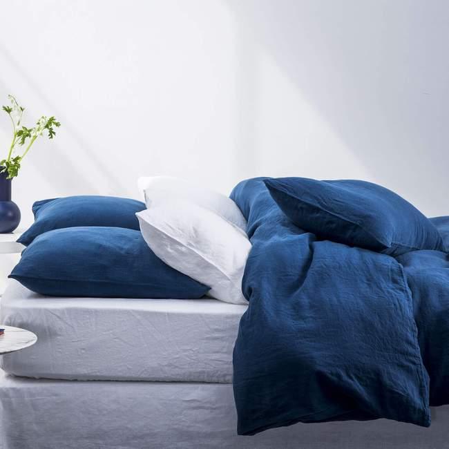 Parure de lit en lin lavé français, des parures de lit de qualité fabriquées au Portugal et de manière eco responsable